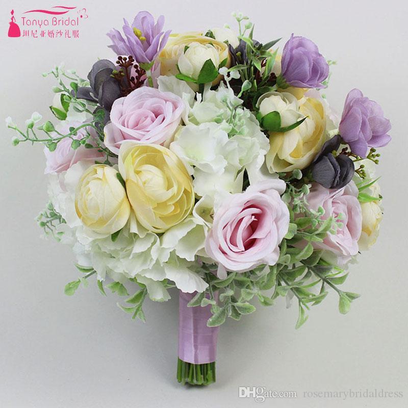 Grosshandel Braut Hand Die Blume Hochzeitsstrauss Braut Brust Blume