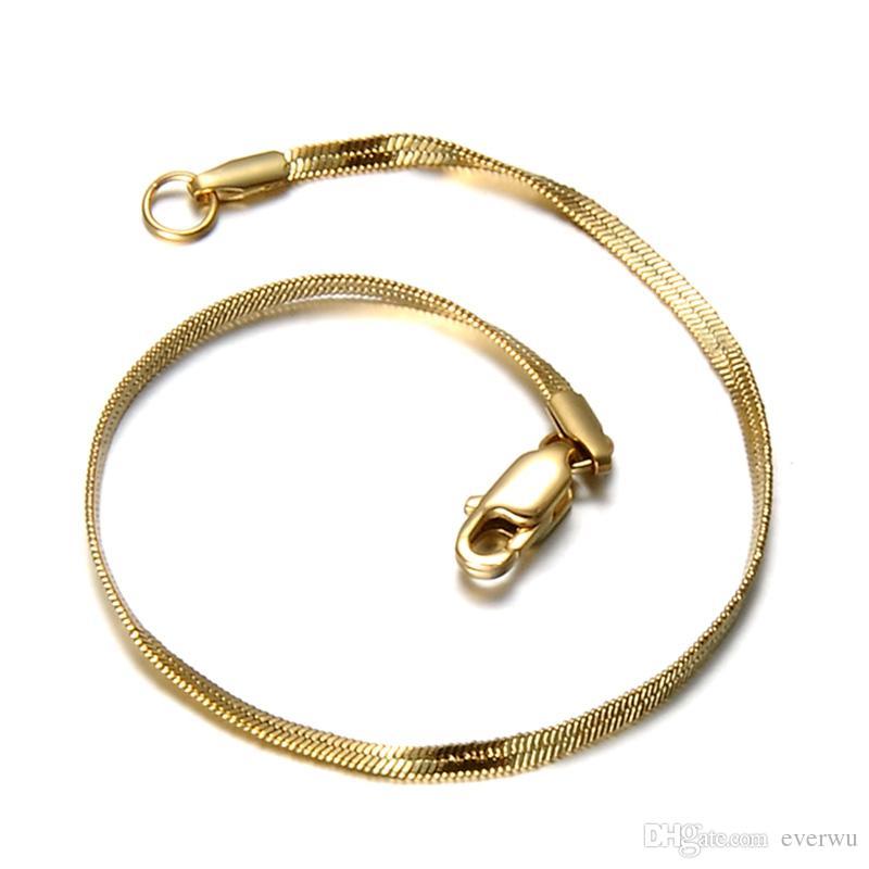 Gold Man Donne Link Catena Bracciale Braccialetto di alta qualità 316L Acciaio inox 18 carati Placcato oro Placcato Braccialetto Braccialetto