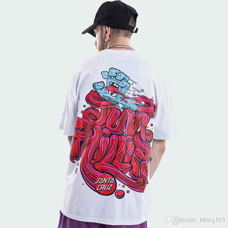 24df0441 Design Graffiti T Shirt Devil Printing Summer Cool T Shirts Men Women  Lovers Hip Hop Skateboards Shirts White Black Short Sleeve Tee TXH0424  Funny Tshirt ...