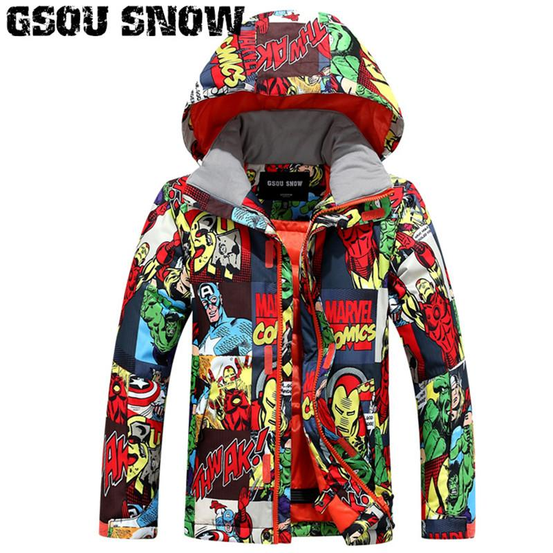 7cd064f29 2018 Gsou Snow Kids Ski Jacket Windproof Waterproof Outdoor Sport ...