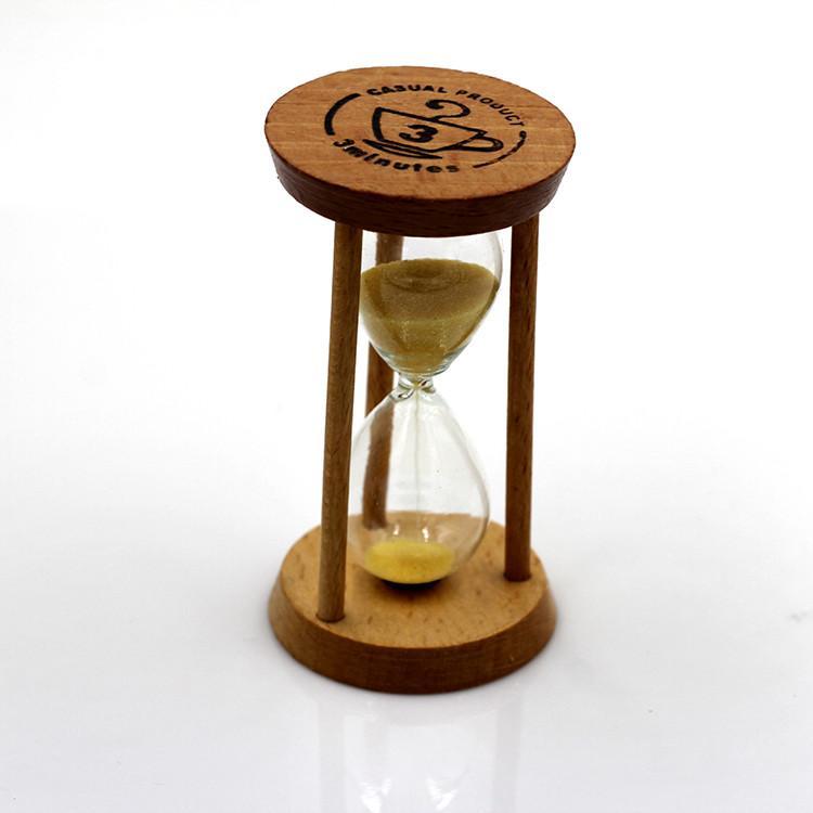 070254b4086 Compre Chegada Nova Alta Qualidade 3 Min Ampulheta De Areia De Madeira  Ampulheta Temporizador Relógio Decoração Presente Único Cozinha De  Walkerstreet