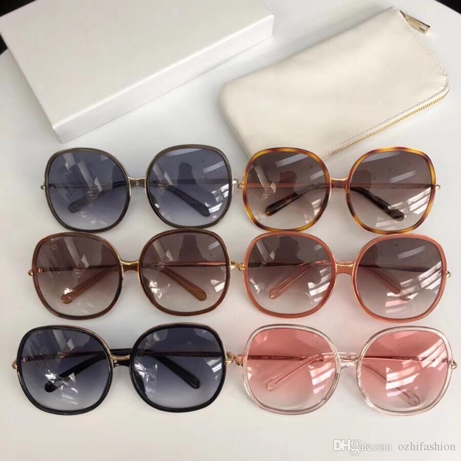 Compre Mulheres Chloe CE725S 62mm Cinza Escuro Injetado Óculos De Sol  Oversized Designer Óculos De Sol Eyewear Oculos De Sol Óculos De Sol Novo  Com Caixa De ... e933cf48fd