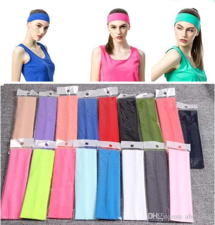 Fashion Yoga Bandanas For Women Stretch Headband Sports Bandana Yoga Hair Band Sweat Head Wrap Unisex High Elastic Bandanas