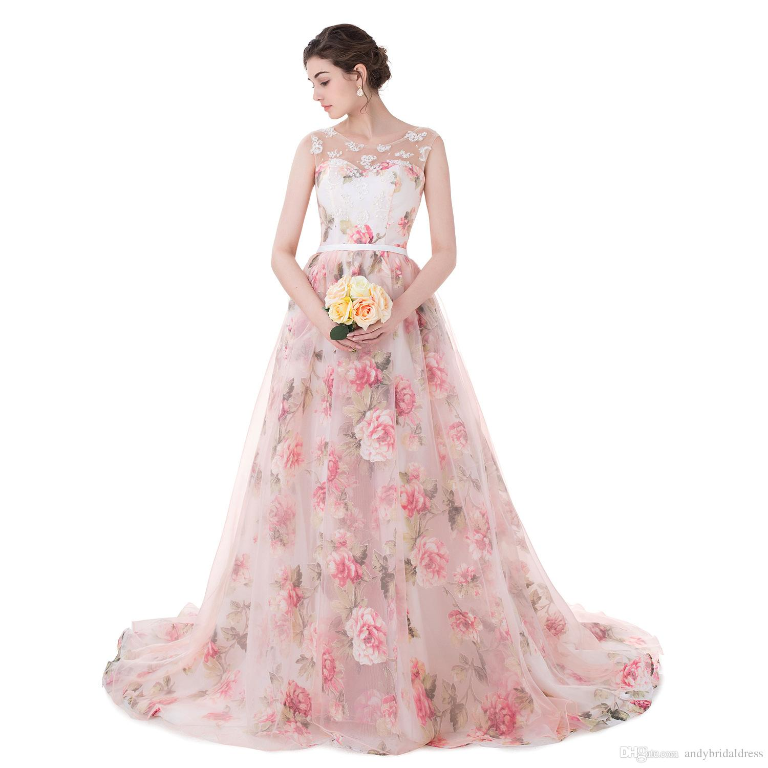 In Stock Cheap Appliques Prom Dress 2019 Print Flowers Organza Ball Gown Evening Dresses Rose Flowers Lace Formal Gowns Maxi Prom Dresses Peacock Prom Dress From Andybridaldress 104 93 Dhgate Com