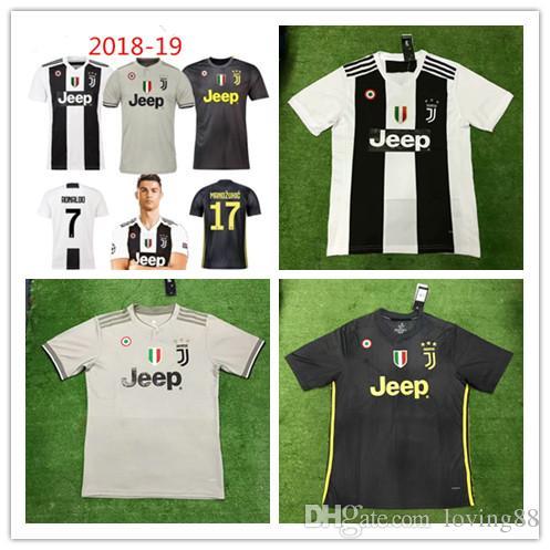 New 2018-19 7 Ronaldo Juventus Jersey 18 19 Juventus Third Set ... 3a116f0b3