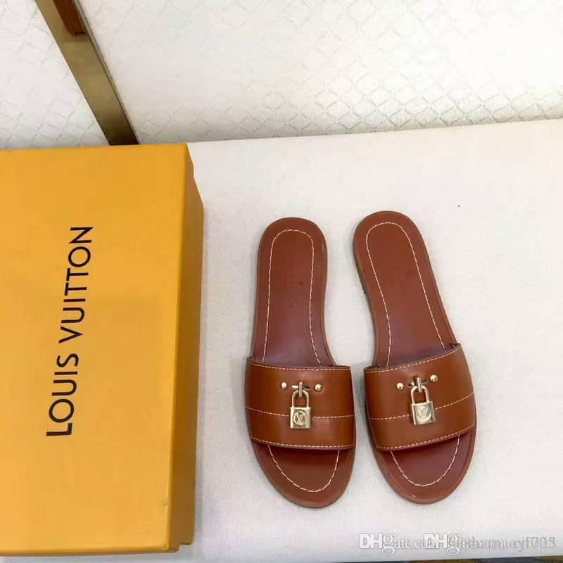693bfc2311d5c2 Wholesale Brand Mules Princetown Men Women Fur Slippers Mules Flats Genuine  Leather Luxury Designer Fashion Metal Chain Ladies Size 35 40 Leather Boots  For ...