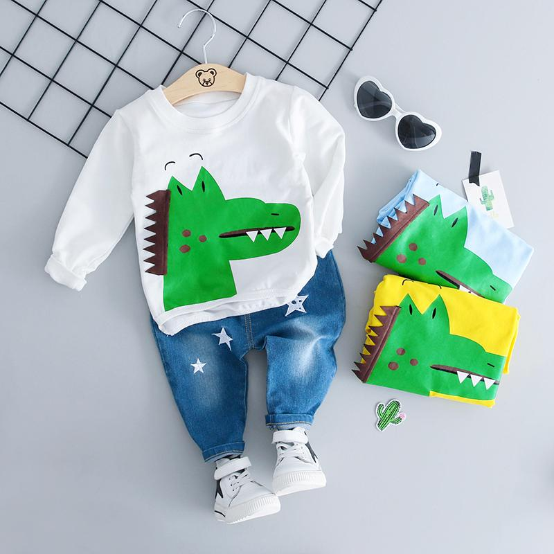 7fe5c5b0c94e 2018 Autumn Infant Clothing Sets Girl Boy Clothes Suits Baby T Shirt ...