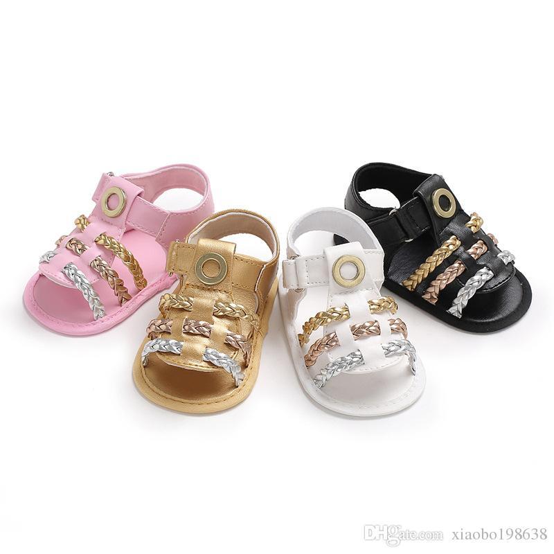 Bonito Infantil Bebê Meninas Verão Berço Sandálias De Caminhada Infantil Novos Sapatos Macios 0-18 Meses de venda quente