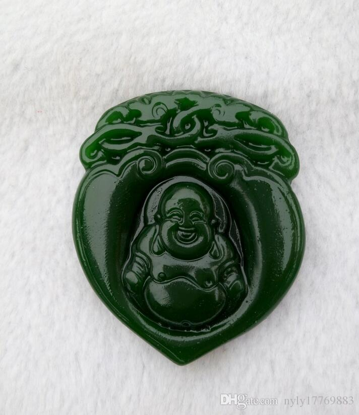 La Chine pendentif de Bouddha de jade de Chine de xinjiang hotan livraison sûre gratuitement V1