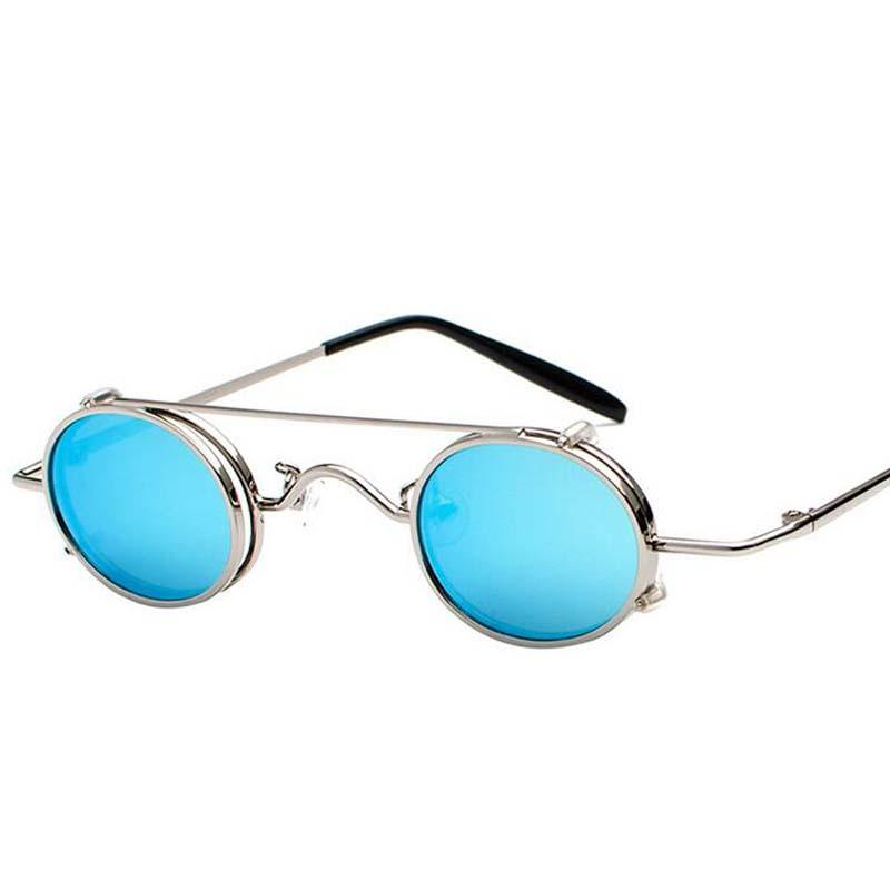 Fashion Punk Sunglasses Removable Dual Use Lightweight Sun Glasses ...
