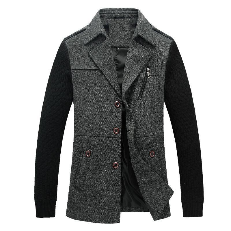 Compre Trench Coat Homens Longo Steampunk Sobretudo Plus Size 2018 Outono Inverno  Jaqueta Casual Magro Blusão De Algodão Cinza Preto De Fenghuangmu 99bd45276e4