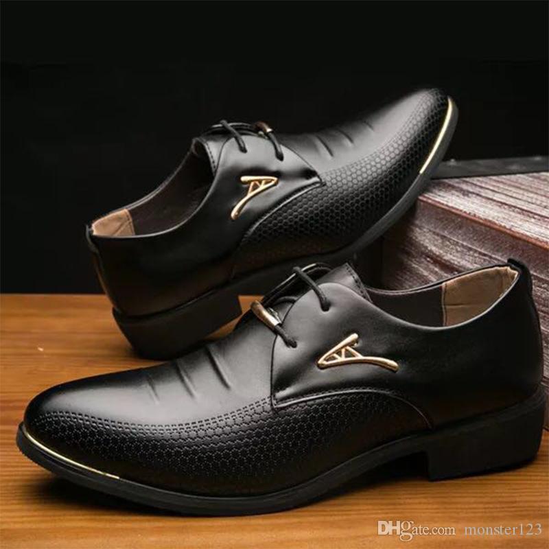 Großhandel Mode Männer Leder Kleid Schuhe Luxusmarke Beliebten Britischen  Stil Oxford Schuhe Für Männer Echtem Leder Schuhe Formale Lace Up Männer  Von ... 1c95cc4bd7