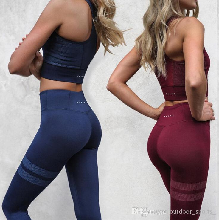 5430dde5e Yoga clothing suit autumn and winter new hot women's yoga, vest trousers  suit women's yoga vest trousers