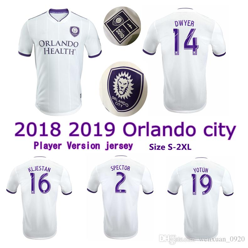 Compre Jogador Versão 2018 2019 Orlando City SC Camisa De Futebol 18 19  Dwyer Yotun Spector Kljestan Futebol De Orlando Camisetas Tamanho S 2XL De  ... c4a854a6ecf90