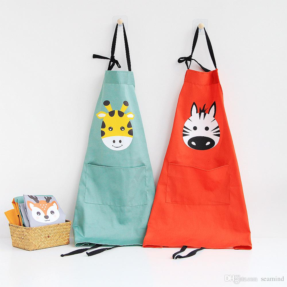 Lovely Cartoon Parent Child Apron Colorful Cooking Kitchen ...