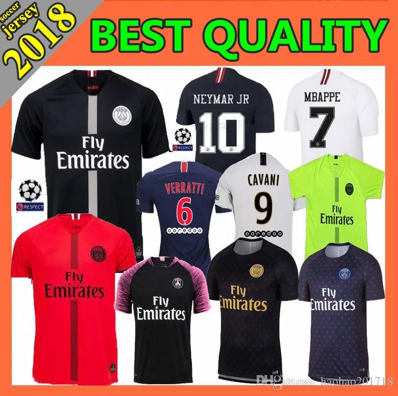 new styles c6c68 b9502 Size S-XXL PSG soccer jersey 2019 Paris 3rd third MBAPPE saint germain  CAVANI jersey 18 19 Survetement Champions League football shirt