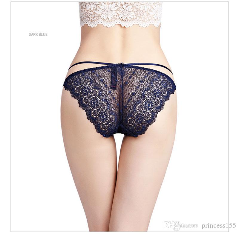 8554719a4de2 2019 Sexy Interest Triangle Bottom Trousers Band Transparent Low Waist Sexy  Ladies Underwear Female Lace Large Size Transparent Pants From Princess155,  ...