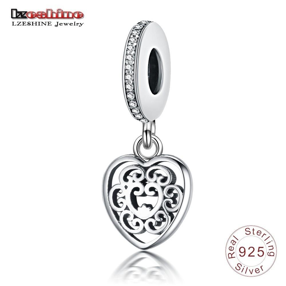 41a07507a LZESHINE New 925 Sterling Silver Hollow Heart Shape Charm Pendant ...