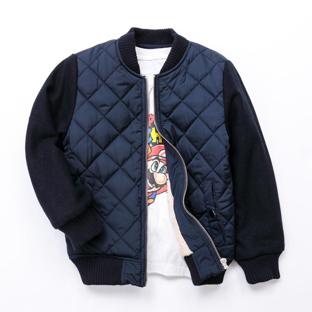 30fd3ea3d Winter Boys Jacket Thicker Baseball Sweatershirt Coats For Boys Warm Plus  Velvet Kids Parkas Brand Children'S Outwear 3 12 Yrs Boy Down Coat Girls  Winter ...
