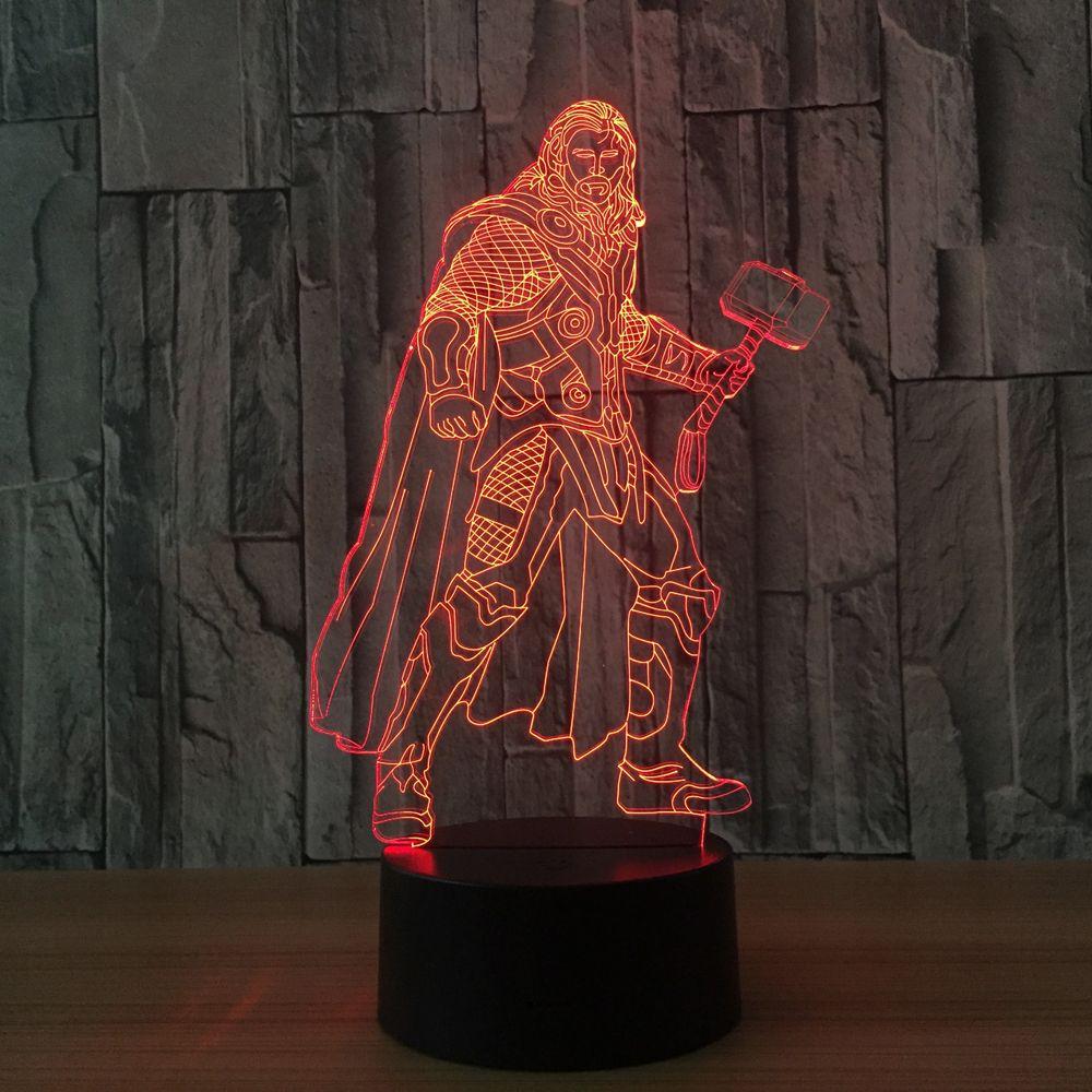 Color Change 3D Night Light LED Lamp Luminaria LED Lighting Home ...