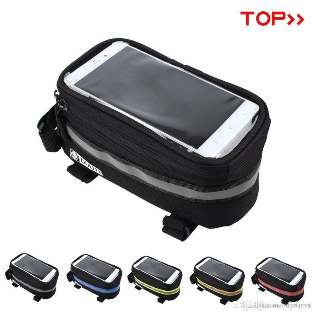 "New panniers Frame Front Tube Bag For Cell Phone MTB Bike Touch Screen Bag For iphone 6 Plus 4.8"" 5.7""Cycling Bike Bicycle bags"