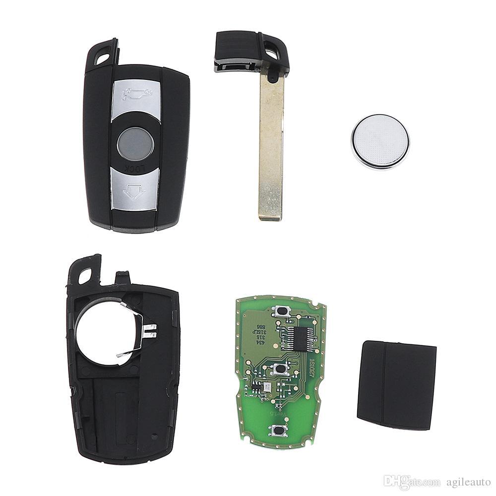 Chiave a distanza 868MHz a 3 tasti sistema BMW CAS3 X5 X6 Z4 serie Smart Key veicolo 1/3/5/7 KEY_10C