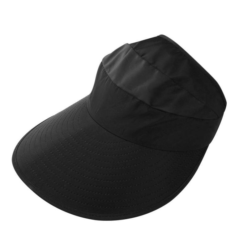42c563788b5 2017 Women Summer Sun Hats Sun Visor Hats With Big Heads Solid Nylon  Fastener Tape Casual For Summer Womens  808 Vintage Hats Mens Caps From  Alley66