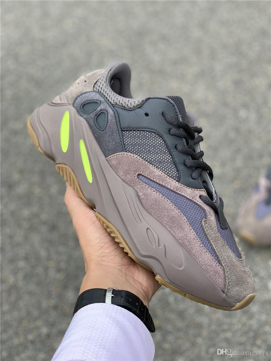 size 40 2c77c 255d8 Free Shipping Kanye West Wave Runner 700 Mauve Sneakers Mens Womens 2018  New700 Mauve Running Shoes Come With Box