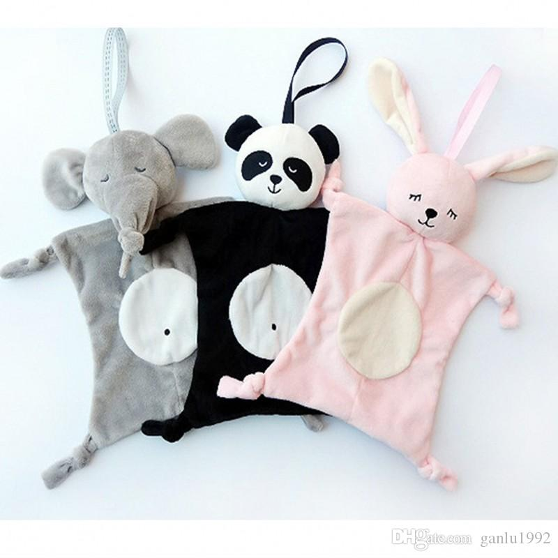 Newborn Blankie Soothing Towel Of Baby Toys Animal Shape Multifunctional Gift Soft Mouth Water Towels Kids Plush Toy 7 5yt W