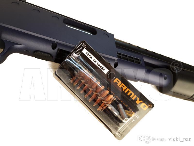 Armiyo 12GA 12 Gauge 18.5mm Fusil De Corps Canon Coton Nettoyant Pistolet De Nettoyage Tampons Vis Fil Taille 8-32 Shot Chasse Accessoires