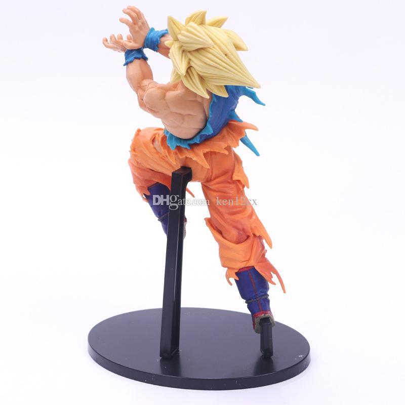 Compre 21 Cm Anime Dragon Ball Z Son Goku Super Saiyan Luta Onda De Choque Pvc Action Figure Collectible Toy Modelo De Ken12cx 1026 Ptdhgatecom