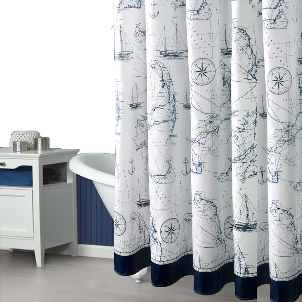 2019 Modern Romantic Sailing Fabric Shower Curtains Liners Non Toxic Waterproof Mildew Free Water Repellent Metal Grommets Heavy Hem From Griffith