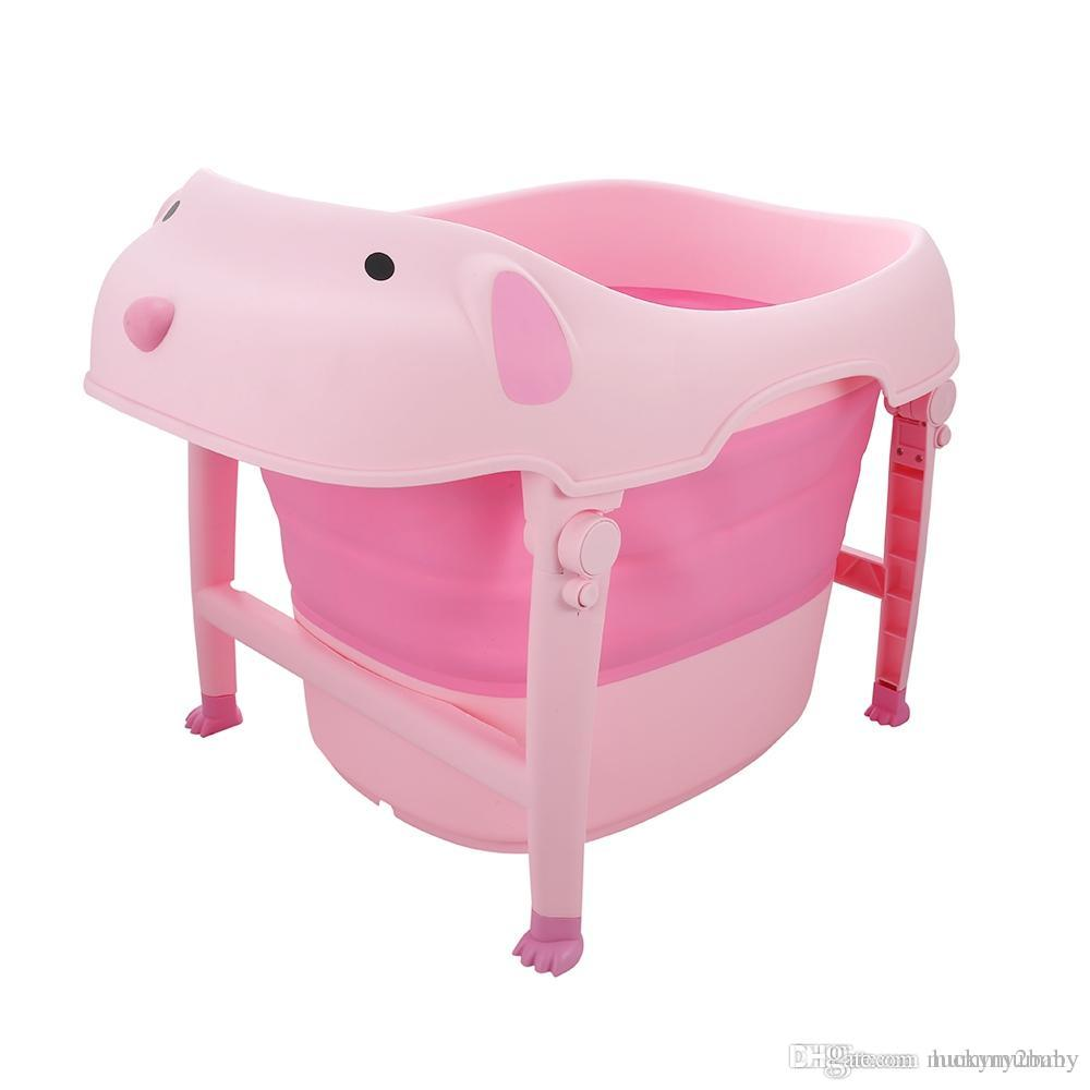 Online Cheap Large Folding Children Baby Bath Tub Bath Tub Cute ...