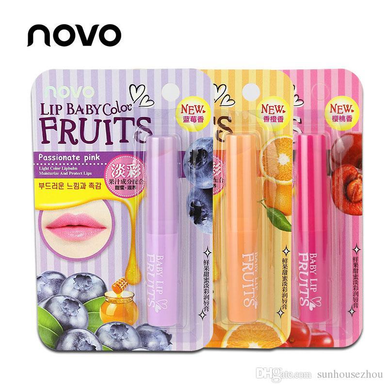Nueva Crema Hidratante Nature Stawberry Orange Organic Lip Balm Repair Lápiz Labial Cute Lip CARE Protector Sweet Taste Gloss Labial Hidratante