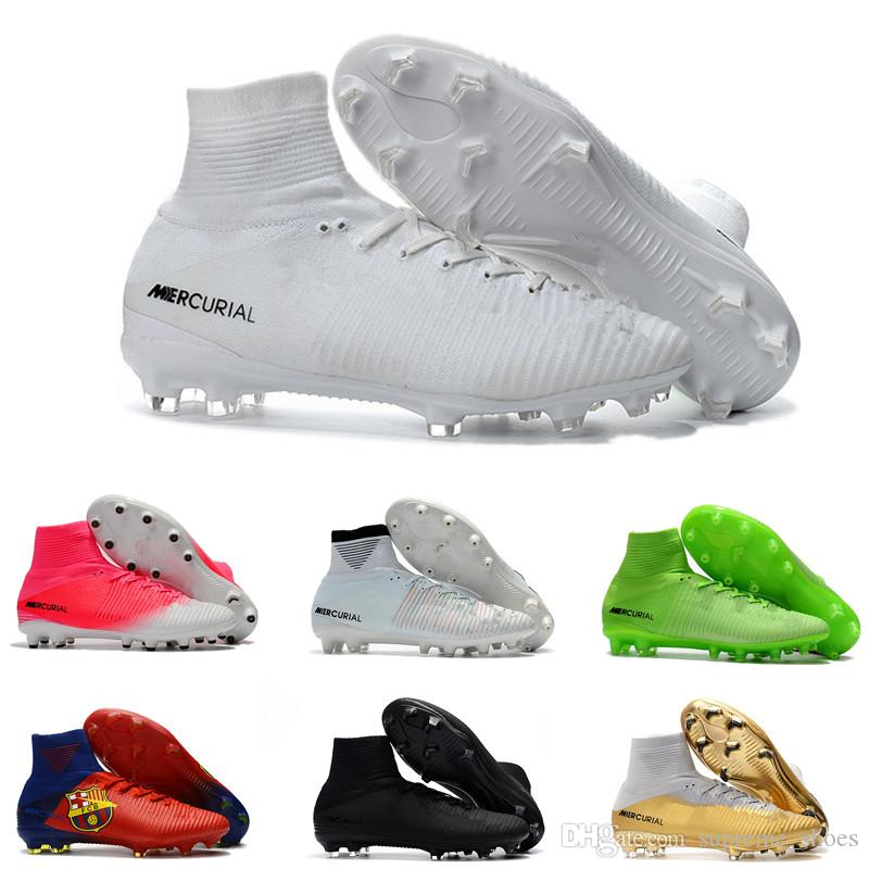 7d7bc69116f3e 2019 Top Quality Kids Mercurial Superfly FG CR7 Magista Obra Soccer Shoes  Cristiano Ronaldo Cleats Neymar Footbal Shoes Cheapest Soccer From  Supreme_shoes, ...