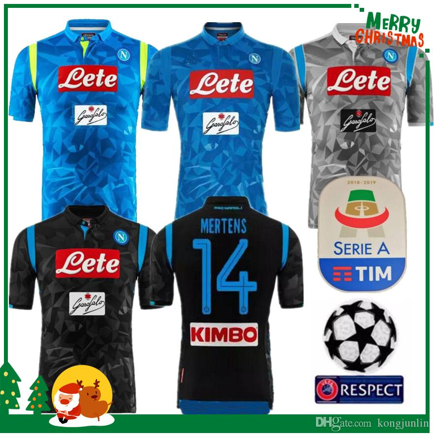 2018 2019 Serie A Naples New Napoli Camisetas De Fútbol De Local Camisetas  Azules De Fútbol De Napoli Camiseta De Hombre 18 19 HAMSIK L.INSIGNE PLAYER  ... f28d5bded689a