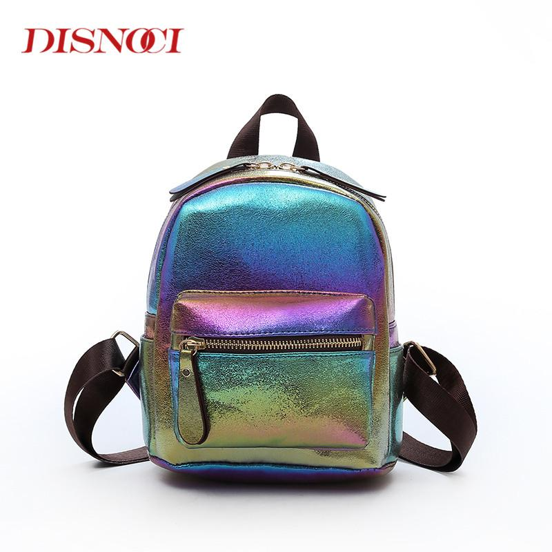 104e20e895c1 Fashion Women Backpack Bright Color Leather Backpacks for Teenage ...