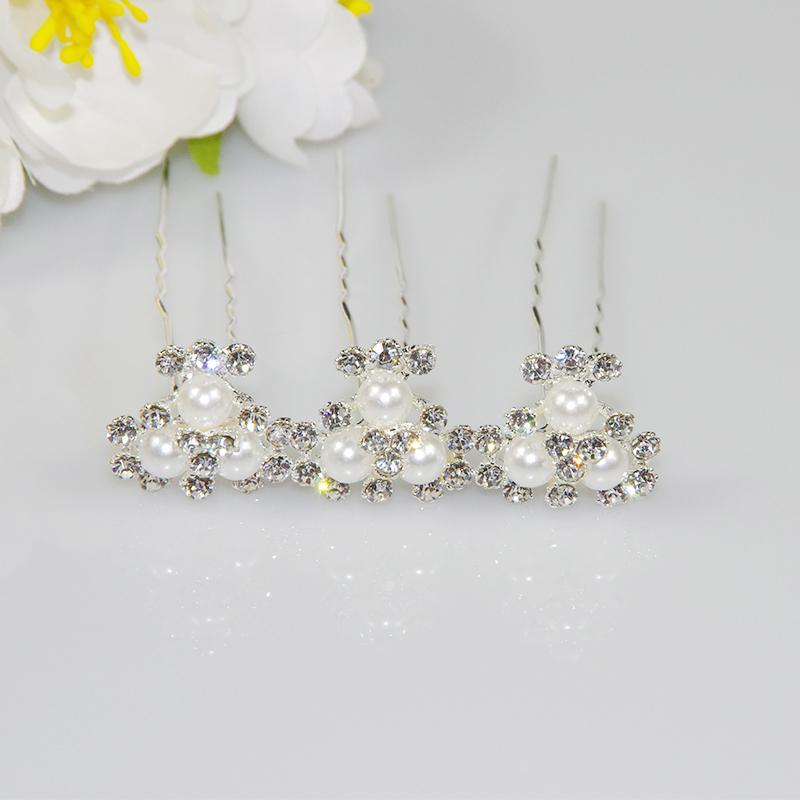 mariage épingles à cheveux fleur de cristal strass pinces à cheveux demoiselle d'honneur bijoux bijoux livraison gratuite
