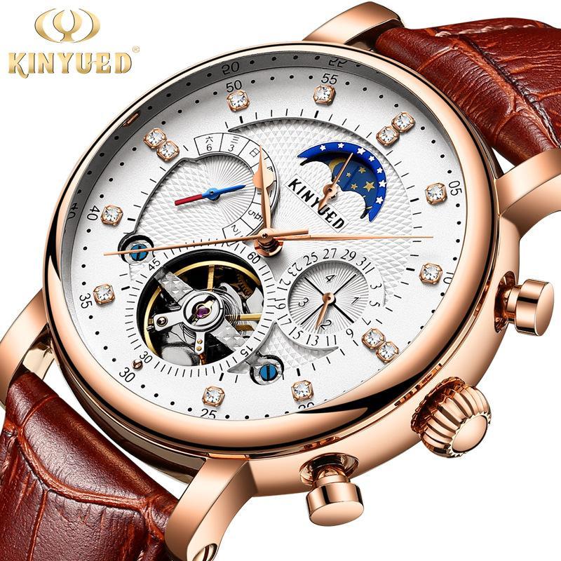 1c62c261615 Compre Genuine KINYUED Top Marca Mens Relógios Mecânicos Relógio Automático  Dos Homens Dos Esportes À Prova D  Água Relógio Relogio Masculino De  Loquat18