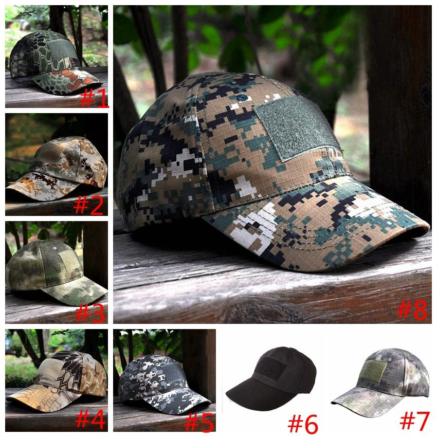 Camouflage Caps Special Force Tactical Operator hat Baseball Hat Cap Baseball Style Military Hunting Hiking party Hats GGA958