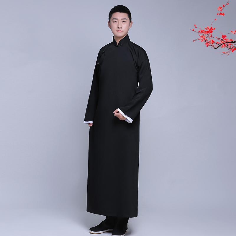 Acquista Nuovo Arrivo Maschio Cheongsam In Cotone Stile Cinese Costume  Maschile Giacca Abito Lungo Abito Tradizionale Cinese Tang Vestito Uomini  Tang A ... b878be42426