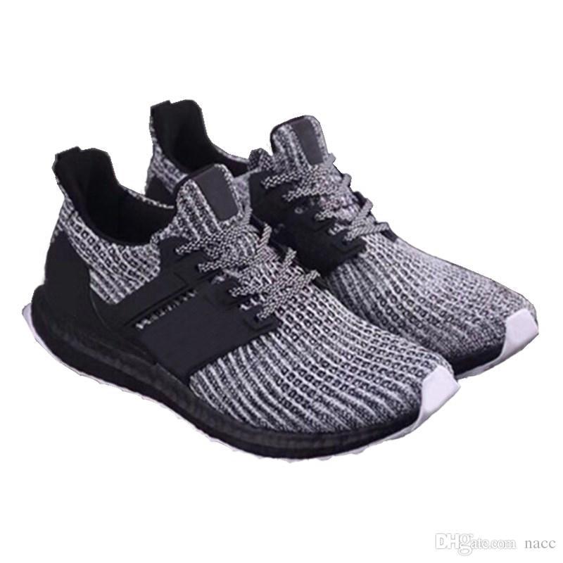 best website dda8f 49402 New Ultra 3.0 4.0 Triple Black White Primeknit Oreo CNY Blue grey AAA Men  Women Running Shoes US 5.5-11