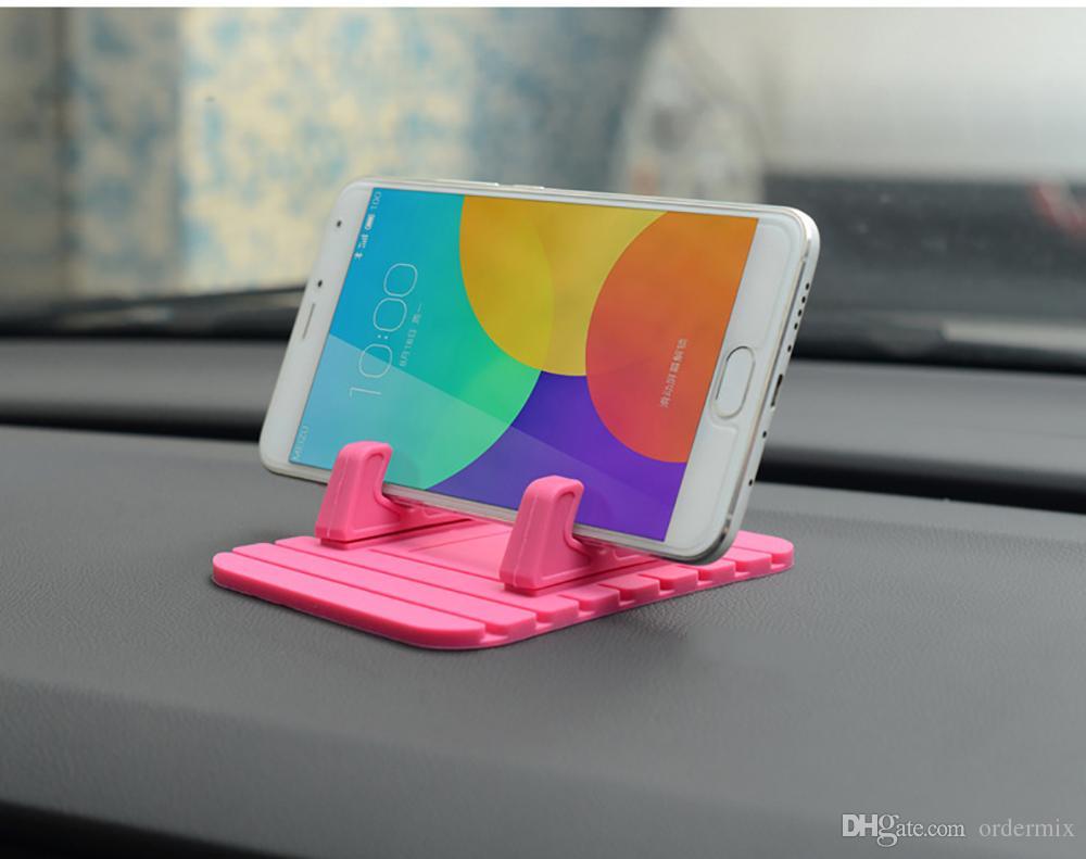 Auto Ornament Dekor-weiche Silikon-Telefon-Halter Anti Rutsch-Matte Autos Armaturenbrett GPS Unterstützung Desktop-Ständer Halter Zubehör