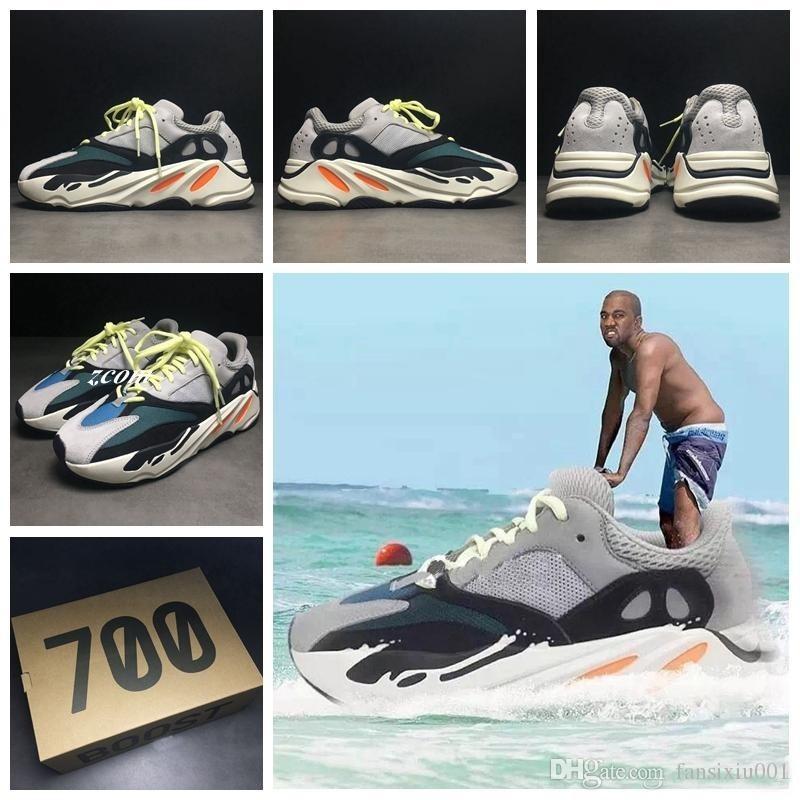 online store bc526 4c1ae Discount Kanye West Wave Runner 700 Calabasas real Men s Women s Athletics  sneakers sport footwear Running Shoes