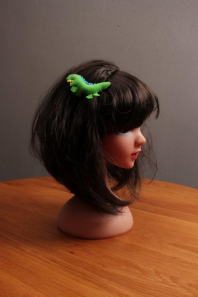 New Cute Green Little Dinosaurs Girls Hair Clips Kids Hairpins Barrettes Children Hair Accessories