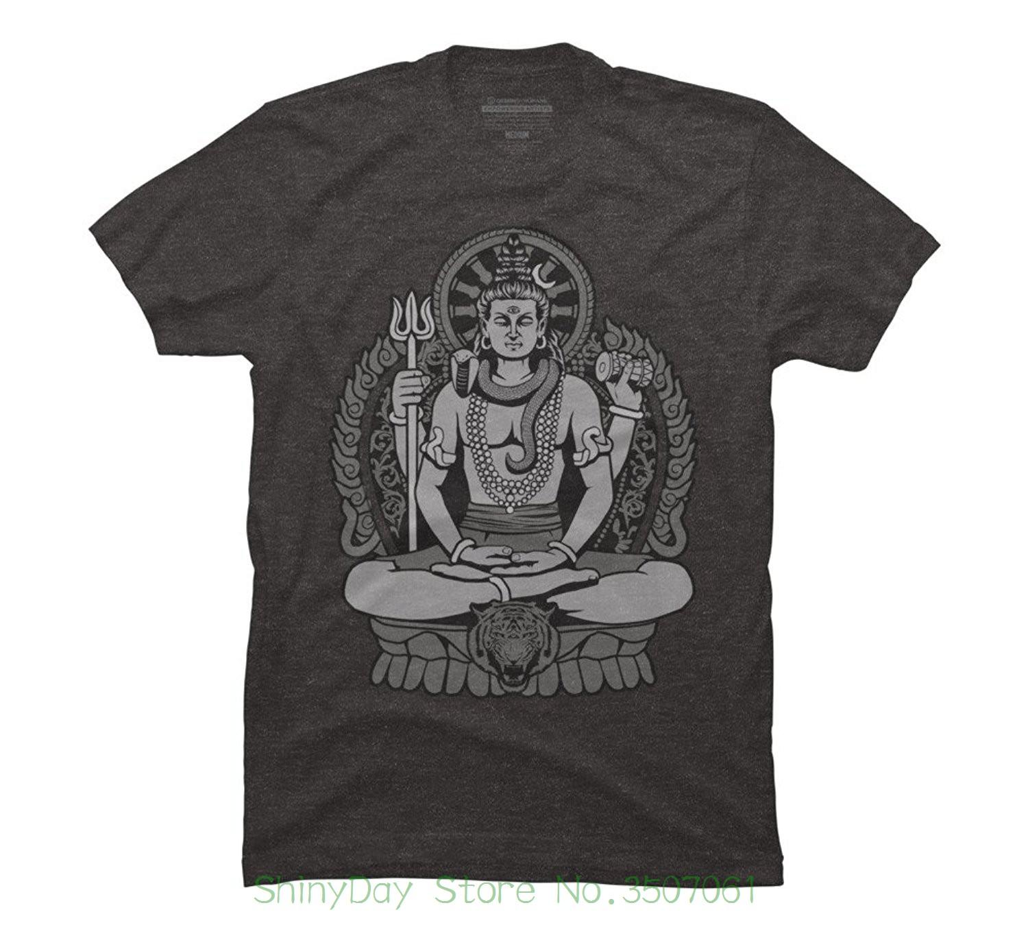 9a388976a6 Streetwear Funny Print Clothing Hip-tope Mans T-shirt Tops Tees Lord Shiva  Men s Graphic T Shirt