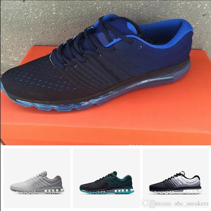 de253ea27d25 Acheter 2018 Nike Air Max 2017 Sneakers Zero QS Casual Chaussures Pour  Hommes Haute Qualité Mode Trainers Hommes Femme En Plein Air De Marche  Chaussures De ...