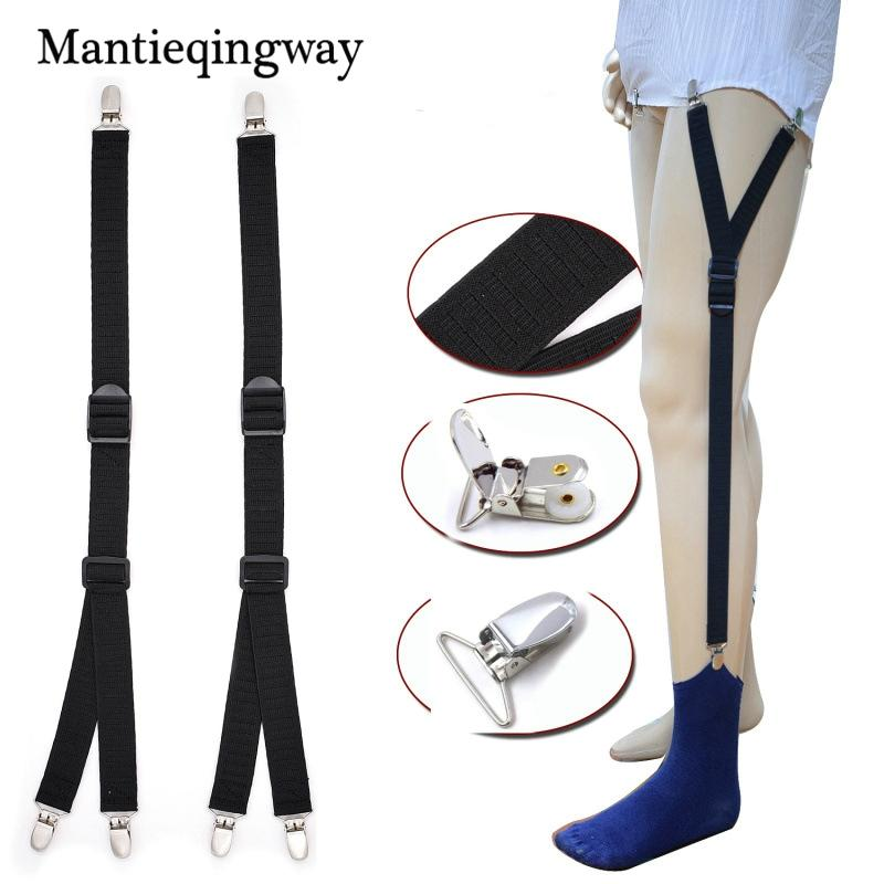 Mens Shirt Stays Garter Straps Adjustable Elastic Sock Suspenders For Mens Business Legs Shirt Garter Belts Beautiful In Colour Apparel Accessories Men's Suspenders