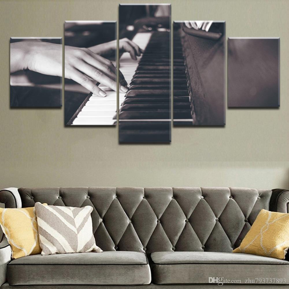2019 Modern Living Room Wall Art Framework HD Printed Canvas 5 Panel ...