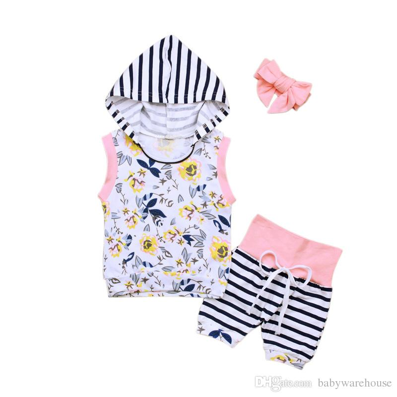 fd85472393cd 2019 2018 Summer Kids Clothes Newborn Infant Baby Girls Outfits ...